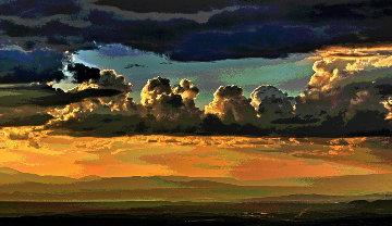 Clouds Over Santa Fe AP 2014 Aluminum Limited Edition Print - Les Mayers
