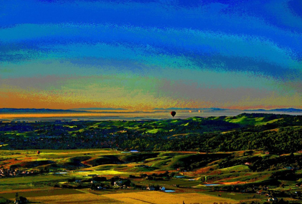 Ballooning Over Napa Valley AP 2014 Aluminum Limited Edition Print by Les Mayers