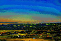 Ballooning Over Napa Valley AP 2014 Aluminum Limited Edition Print by Les Mayers - 0