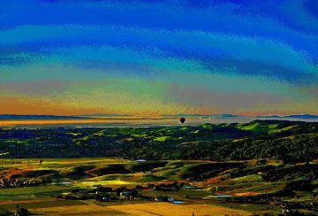 Ballooning Over Napa Valley AP 2014 Aluminum Limited Edition Print - Les Mayers