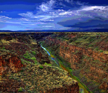 Rio Grande Gorge AP 2014 Limited Edition Print by Les Mayers
