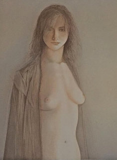 Femme Nue (Naked Woman) 1969 Limited Edition Print - Georges Mazilu