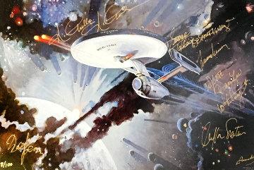 Star Trek (67 Celebrity Hand Signed Autographs)  1999 Limited Edition Print - Robert McCall