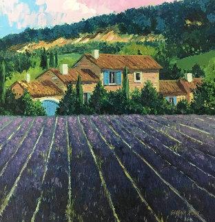 Lavender Fields Embellished Limited Edition Print by Barbara McCann