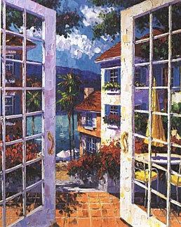 Balmy Bermuda Breeze 1997 Embellished Limited Edition Print by Barbara McCann