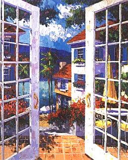 Balmy Bermuda Breeze 1997 Embellished Huge Limited Edition Print - Barbara McCann