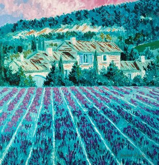 Lavender Fields 2000 Embellished  Limited Edition Print by Barbara McCann
