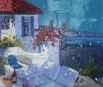 Summer Hideaway 2004 24x25 Original Painting - Barbara McCann