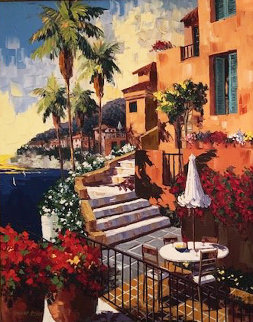 Day in Villa Franche 2005 Embellished Limited Edition Print - Barbara McCann