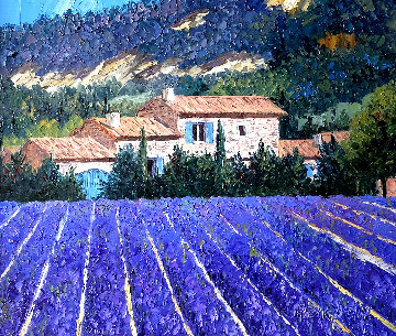 On the Way to Rousillon 2000 29x33 Original Painting - Barbara McCann