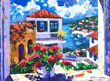 Harbor View Embellished Limited Edition Print - Barbara McCann