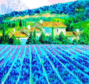 Lavender Fields 2000 Embellished Limited Edition Print - Barbara McCann