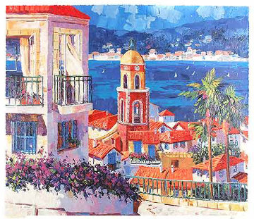 St. Tropez 1998 Embellished Limited Edition Print - Barbara McCann
