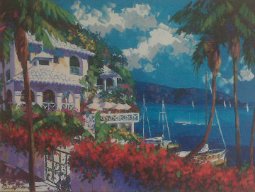 Paradise Bay 1996 30x40 Super Huge  Limited Edition Print - Barbara McCann