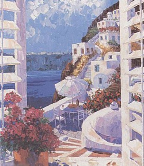 View to Santorini 1998 Limited Edition Print by Barbara McCann