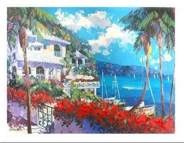 Paradise Bay 1996 Embellished Limited Edition Print - Barbara McCann