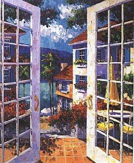 Balmy Bermuda Breeze 2000 Embellished Limited Edition Print by Barbara McCann