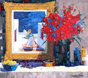 Santorini Still Life 1999 Embellished Limited Edition Print - Barbara McCann