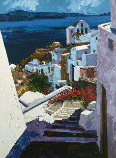 Greek Isles I 1999 Embellished Limited Edition Print - Barbara McCann