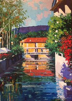 L'Isle Sur La Sorque 1999 Embellished  Limited Edition Print - Barbara McCann