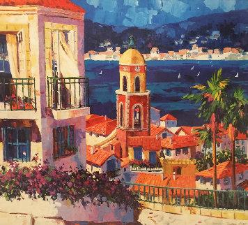 St Tropez 1999 Embellished Limited Edition Print - Barbara McCann