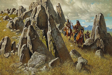 Where Ancient Ones Had Hunted 1992 Limited Edition Print - Frank McCarthy