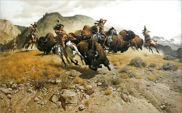 Untitled Southwest Landscape 1973 Limited Edition Print - Frank McCarthy