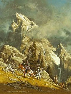 Crossing the Divide 1981 Limited Edition Print - Frank McCarthy