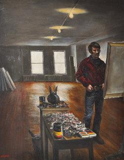 Artist' Studio 1970 30x25 Original Painting - Harry McCormick