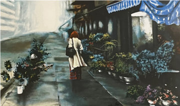 Flower Market Limited Edition Print - Harry McCormick