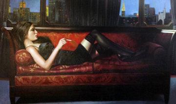 Untitled Reclining Woman 40x62 Original Painting - Harry McCormick
