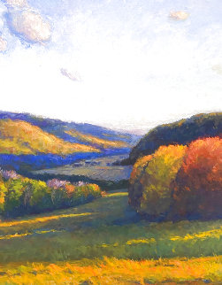 Valley 2010 58x48 Super Huge Original Painting - Kathleen  McDonough