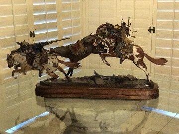 Crow And the Bear Bronze Sculpture 2011 Sculpture - Dave McGary