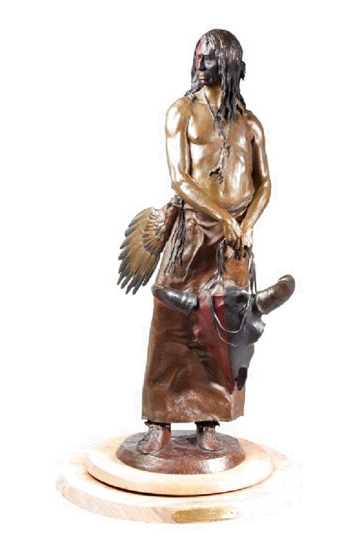 Thunder Dreamer Bronze Sculpture 24 in Sculpture by Dave McGary