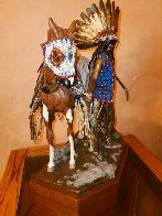 Young Men of the Enemy Fears His Horses Bronze Sculpture 1997 21 in Huge  Sculpture by Dave McGary - 2