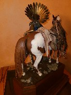 Young Men of the Enemy Fears His Horses Bronze Sculpture 1997 21 in Huge  Sculpture by Dave McGary - 5