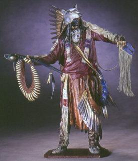 Not Afraid of Pawnee Bronze Sculpture Sculpture - Dave McGary
