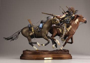When Lightning Strikes Bronze Sculpture Sculpture - Dave McGary