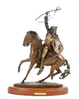 Birth of Long Soldier  Masterwork Edition Bronze Sculpture 24 in Sculpture - Dave McGary