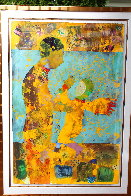 Madonna And Child 70x50 Huge Works on Paper (not prints) by DeLoss McGraw - 1