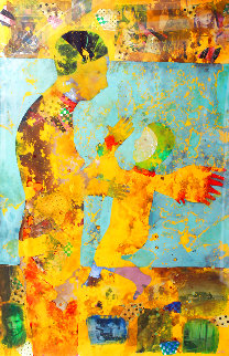 Madonna And Child 70x50 Huge Works on Paper (not prints) - DeLoss McGraw