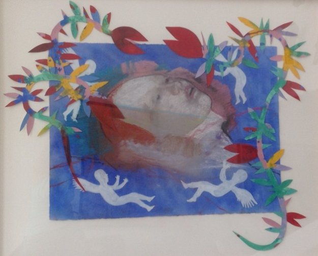 Drowned Ophelia 1992 36x44  Works on Paper (not prints) by DeLoss McGraw