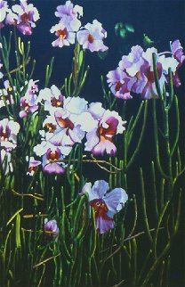 Blooming Orchids  2009 61x40 Original Painting by Madeleine McKay