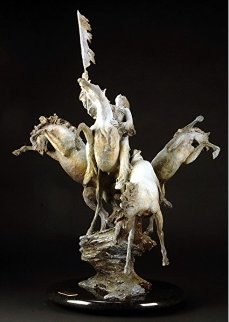 Coup Ponies Bronze Sculpture AP 36 in Sculpture - Jerry  McKellar