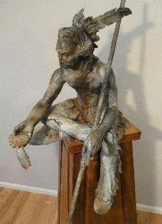 Broken Promises Bronze Sculpture AP 2009 60 in Sculpture by Jerry  McKellar