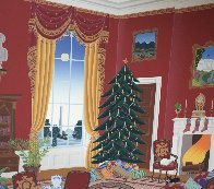 White House Red Room At Christmas 1985 Limited Edition Print by Thomas Frederick McKnight - 1