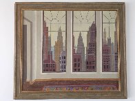 View of New York 1979 40x34 Super Huge Original Painting by Thomas Frederick McKnight - 3