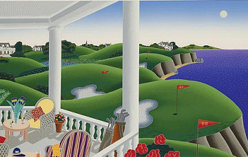 Golf 1990 24x44 Super Huge Limited Edition Print - Thomas Frederick McKnight