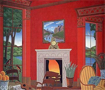 Red Room With Guitar 1987 Limited Edition Print by Thomas Frederick McKnight