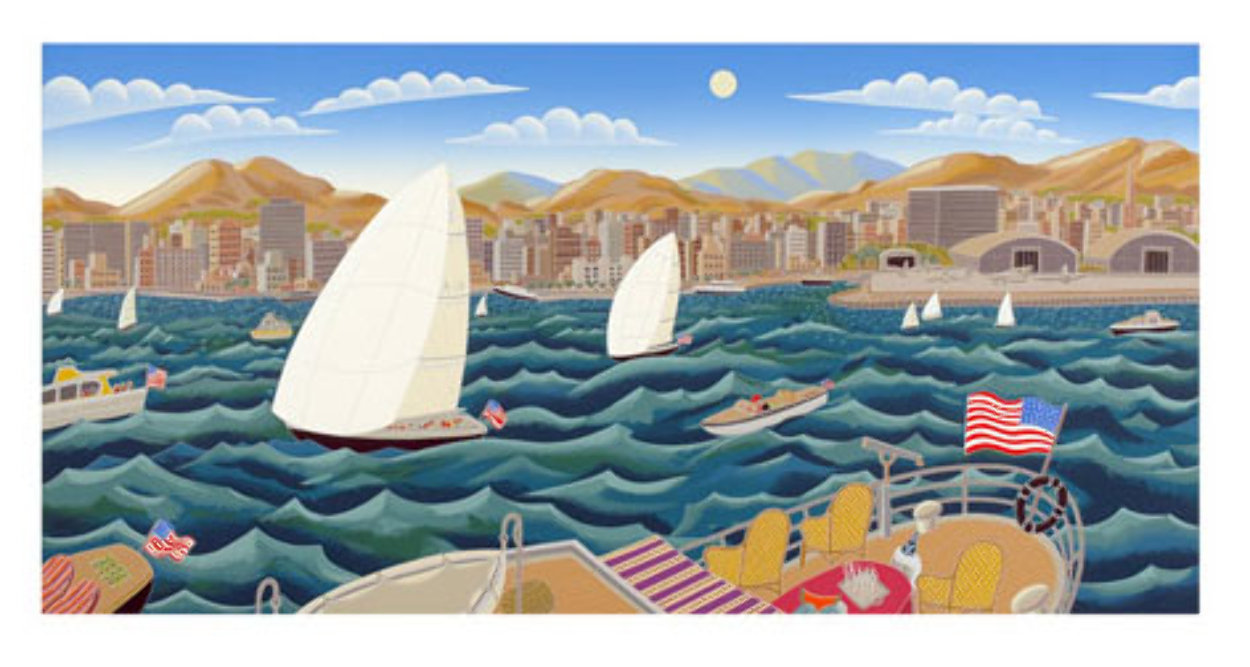 San Diego America's Cup 1992 Super Huge Limited Edition Print by Thomas Frederick McKnight